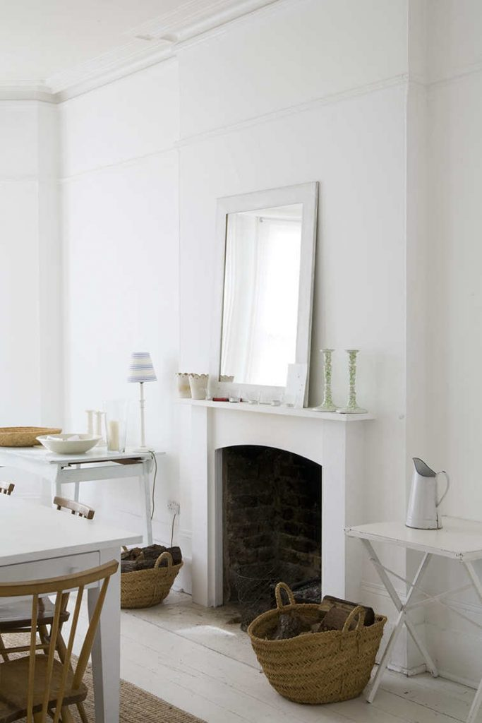 shaker style interior in London, home styling London, shooting property, italianbark interior design blog, total white living room