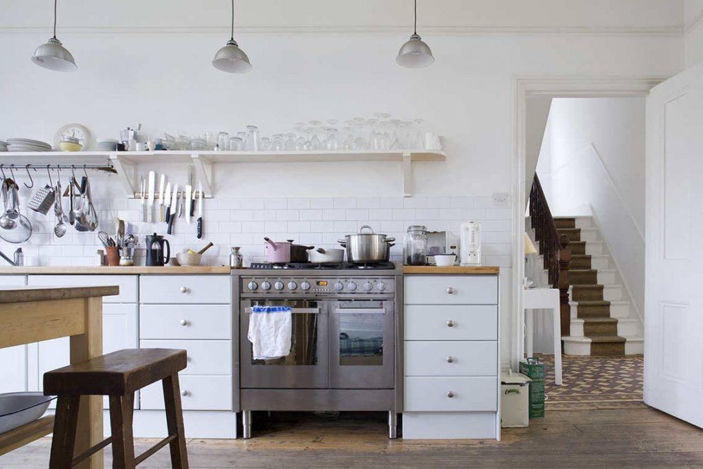 shaker style kitchen, shaker style interior in London, home styling London, shooting property, italianbark interior design blog, total white living room