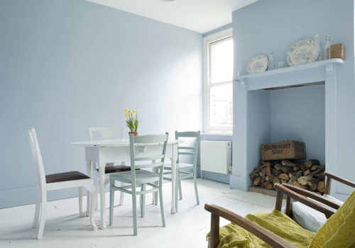 ight blue decor, light blue paint, pastel interior decor, pastel blue