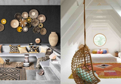 scandi-boho decor. rattan decor home, bohemian interiors, italianbark interior design blog, decorate summer home