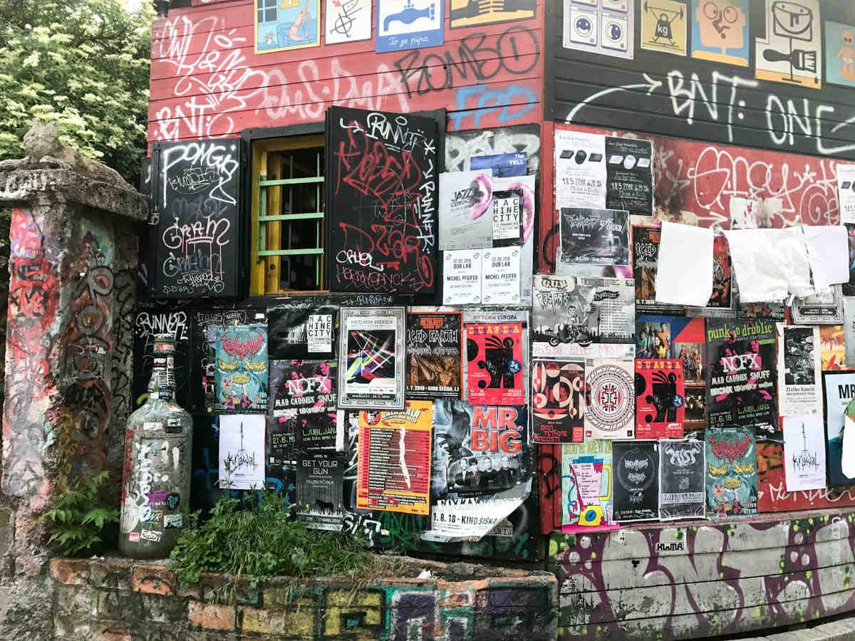 metelkova mesto, visit slovenia, weekend ljubljana, street art, italianbark
