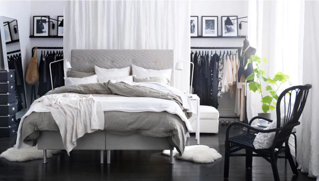 bed in the middle, floating bed, bedroom decor ideas, italianbark interior design blog