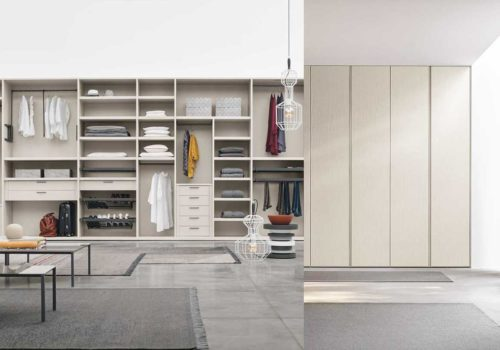 Wardrobe design for a perfect minimalist style bedroom