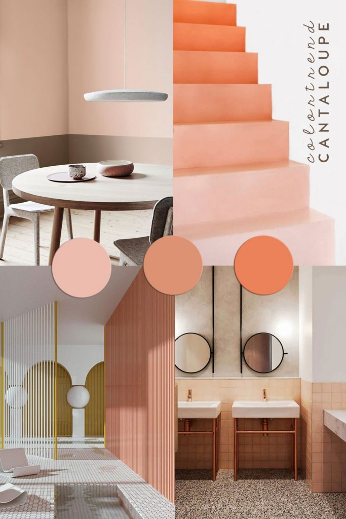 color trend, interior trend, orange wall tiles, orange color trend, pastel interior, toilet design idea, italianbark interior design blog