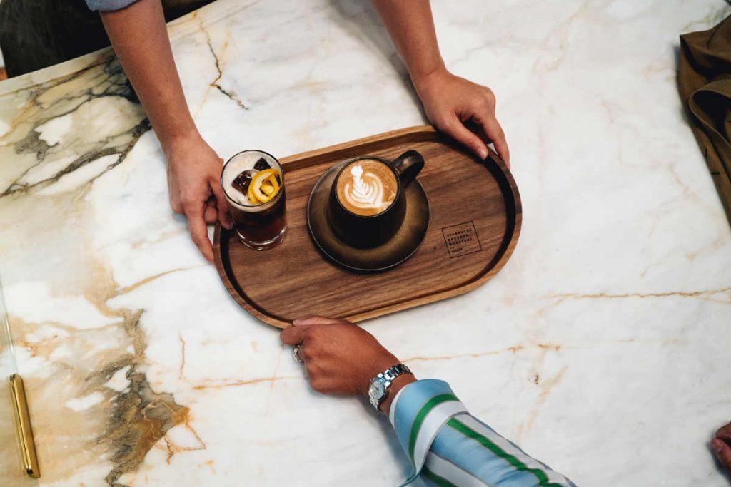 marble top, cappuccino, starbucks milan