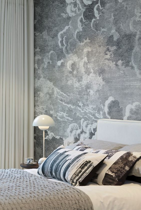 italian design fornasetti style, italianbark interior design blog, piero fornasetti, fornasetti milan, fornasetti wallpaper