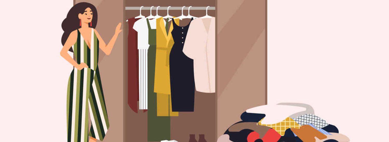 wardrobe decluttering, second hand shop, negozio usato, mercatopoli,