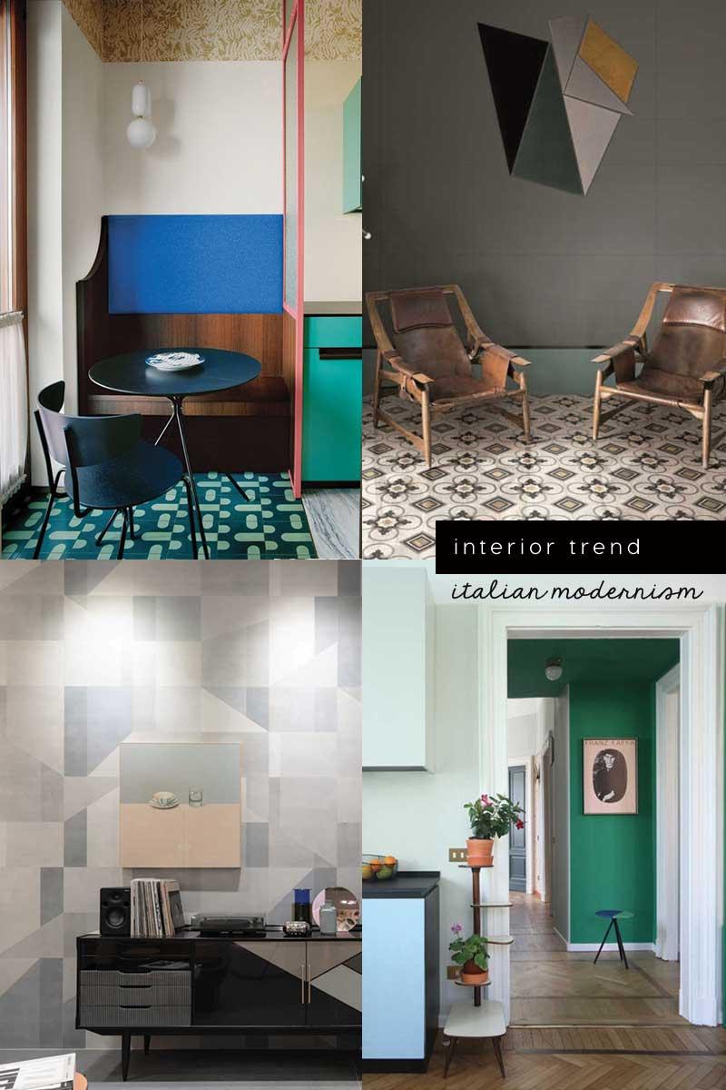 Italian design trend new modernism