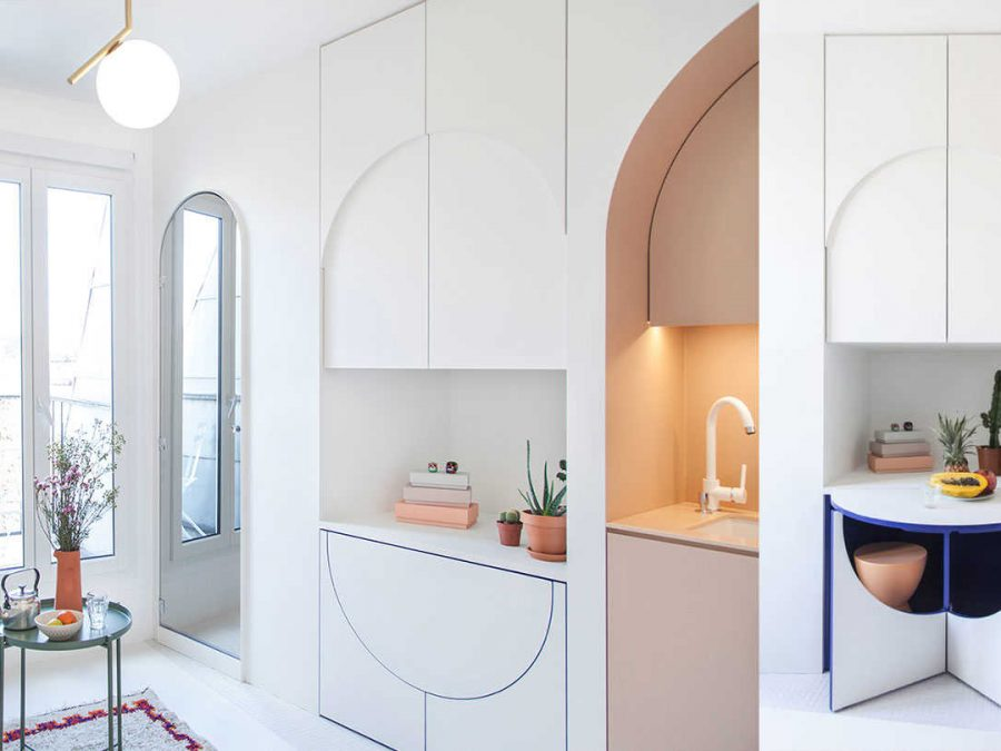 Smart small apartment design solutions by a French studio