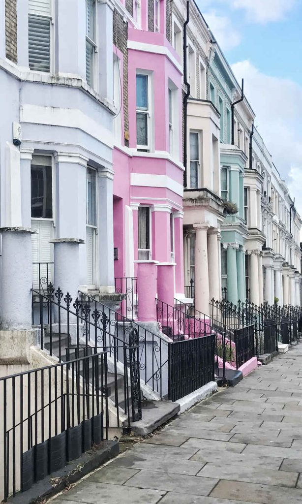 Notting Hill Instagram colourful houses