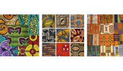 West African textiles: bright colors and exotic prints for ethno…