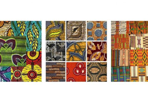 West African textiles: bright colors and exotic prints for ethno chic interiors