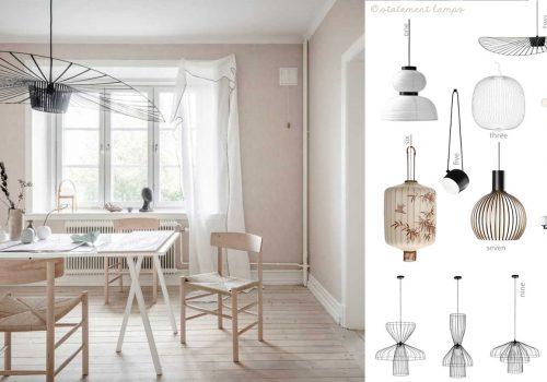 statement ceiling lamps, pendant lamp design, flos lamp pendant, living room lighting ideas, italianbark interior design blog
