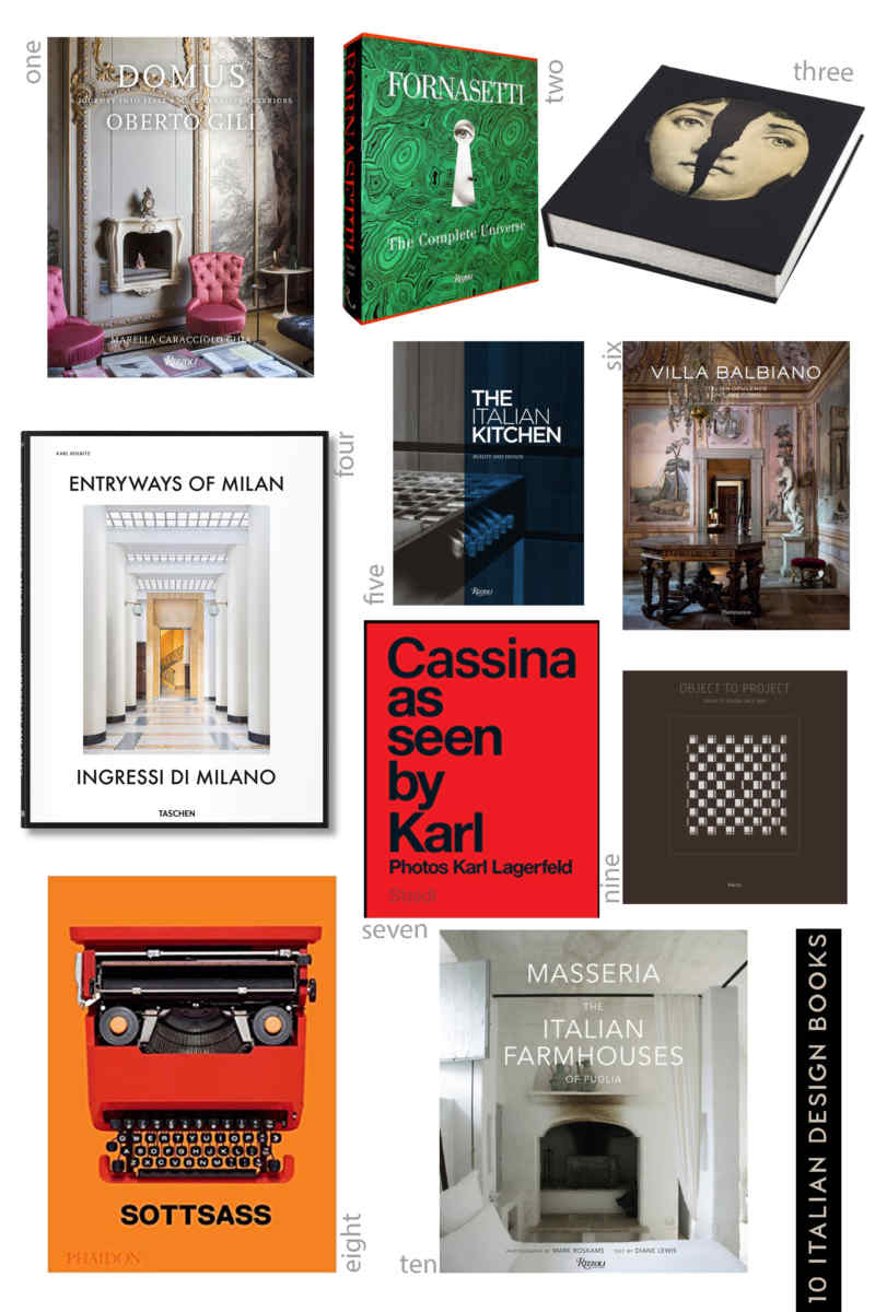 ITALIAN DESIGN BOOKS