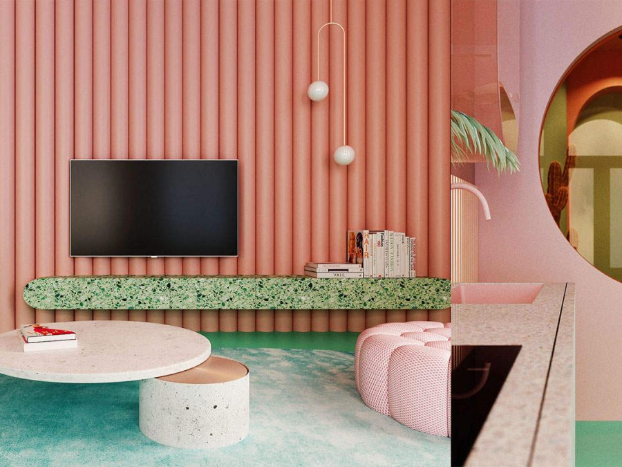 Home Tour Interior Design In Pantone 2019 And Other Trendy