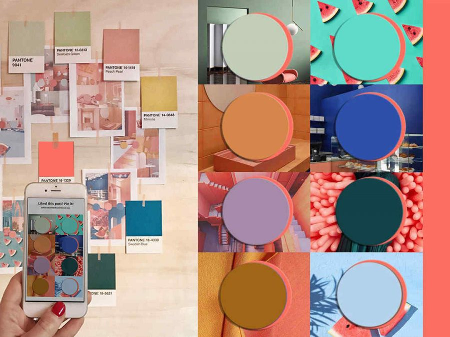 Trends 2020.Color Trends 2020 Starting From Pantone 2019 Living Coral