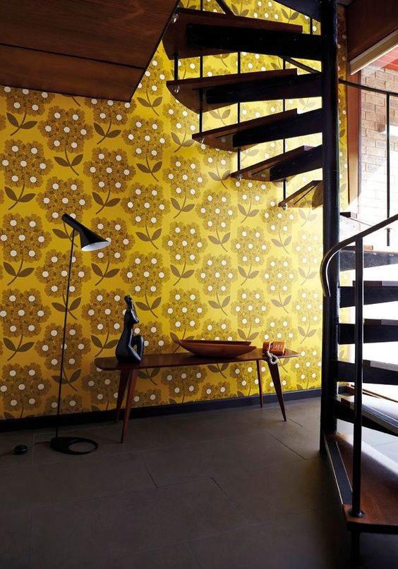 mustard yellow interior design color trend, italianbark interior design blog, yellow home decor, yellow wallpaper