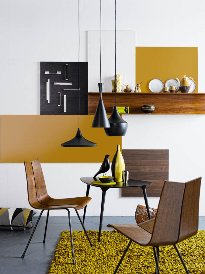 mustard yellow interior design color trend, italianbark interior design blog, yellow home decor