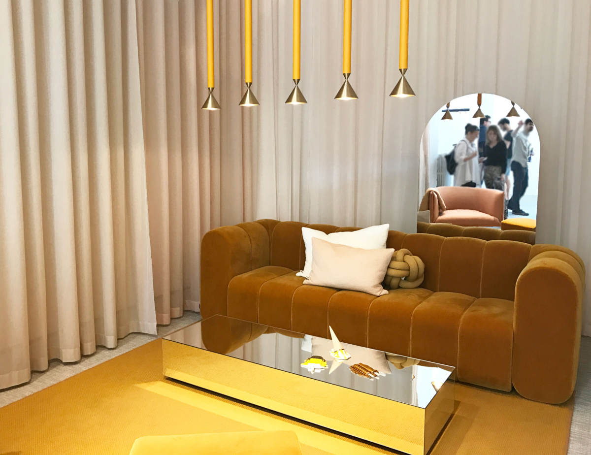 Mustard Accented Installation Called Hemma From The Swedish Company Svenksform At Milan Design Week 2018 Italianbark