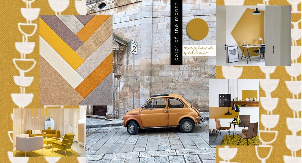 mustard yellow interior design color trend, italianbark interior design blog