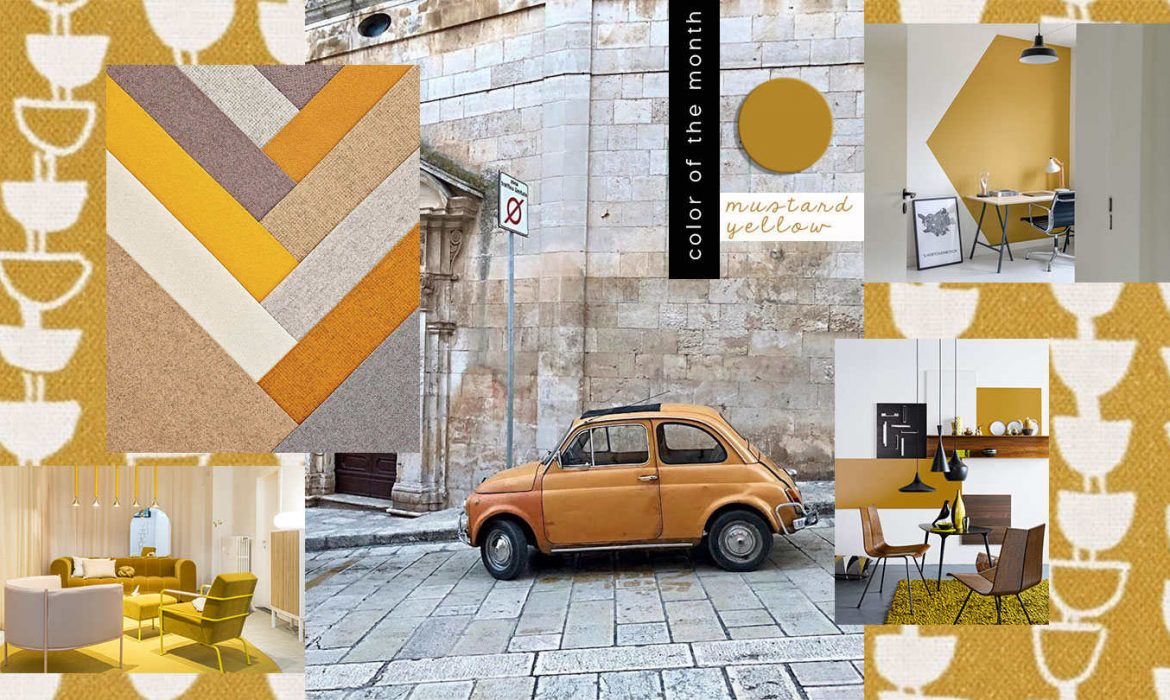 COLOR OF THE MONTH | Mustard yellow: from Milan with Love