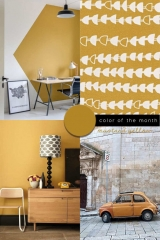 mustard yellow color trend