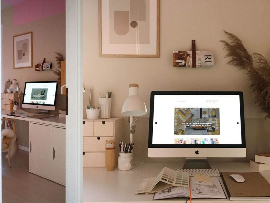 home office restyling before and after