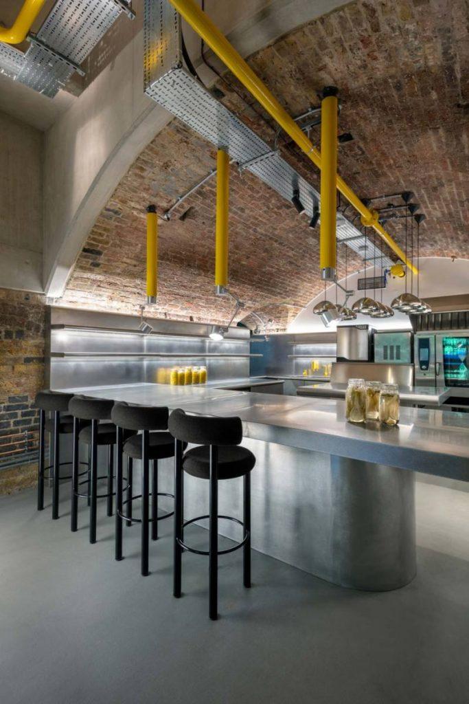 London design restaurant, Tom Dixon coal office, italianbark, restaurant design ideas