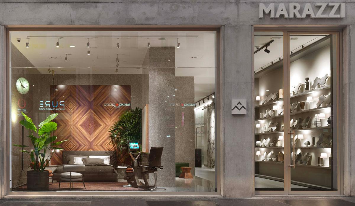 Italian Ceramics and Tiles at Marazzi Milano new showroom ...