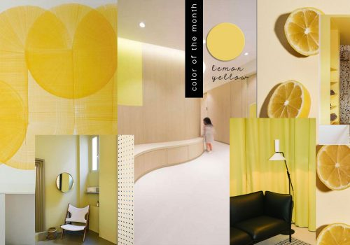 COLOR OF THE MONTH | They call it Lemon Yellow