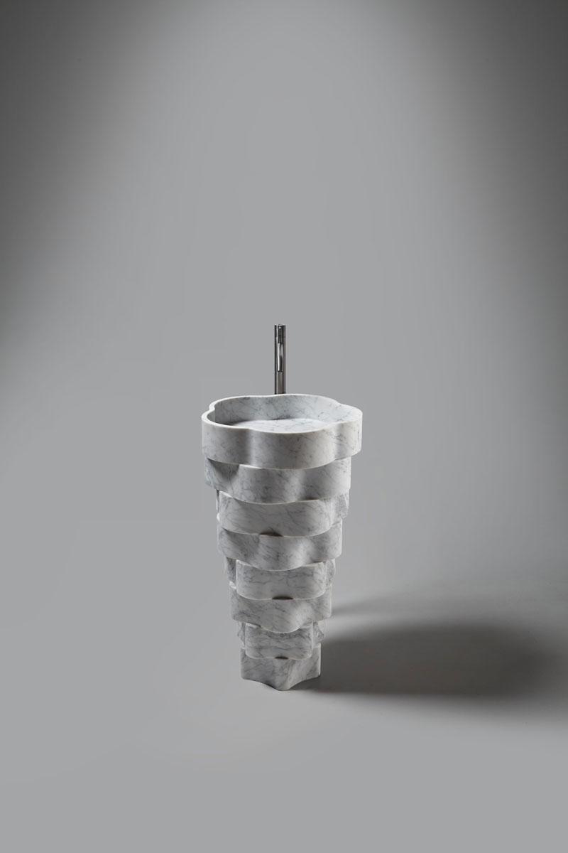 interior design trend organic shapes, bathroom design, antoniolupi