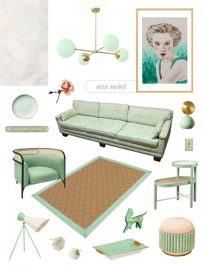 Neo Mint Home Decor