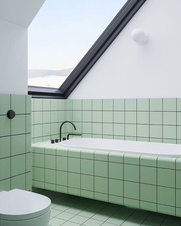 mesmerizing bathroom paint colors 2020 | COLOR TREND 2020 Neo mint in interiors and design