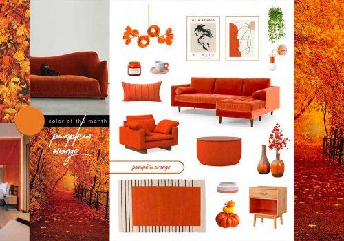 SHOP IT   Nostalgia-infused Pumpkin Orange furniture and decor