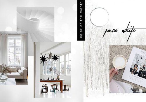 COLOR OF THE MONTH | Wintertime in Pure White