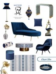 Pantone 2020 Classic Blue Furniture