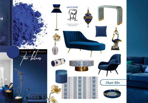 SHOP IT | Furniture and Decor in Pantone Classic Blue