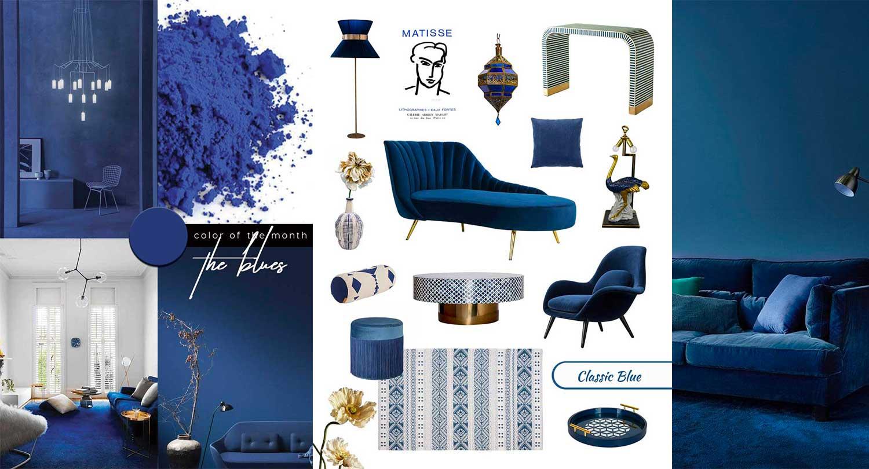 Interior Trends Pantone 2020 Classic Blue Furniture Home Decor