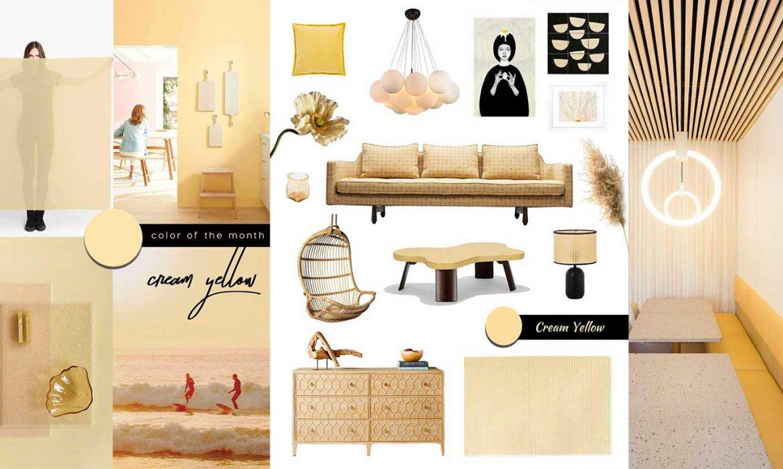 creating a relaxing interior design, cream yellow interior decor, home shopping online