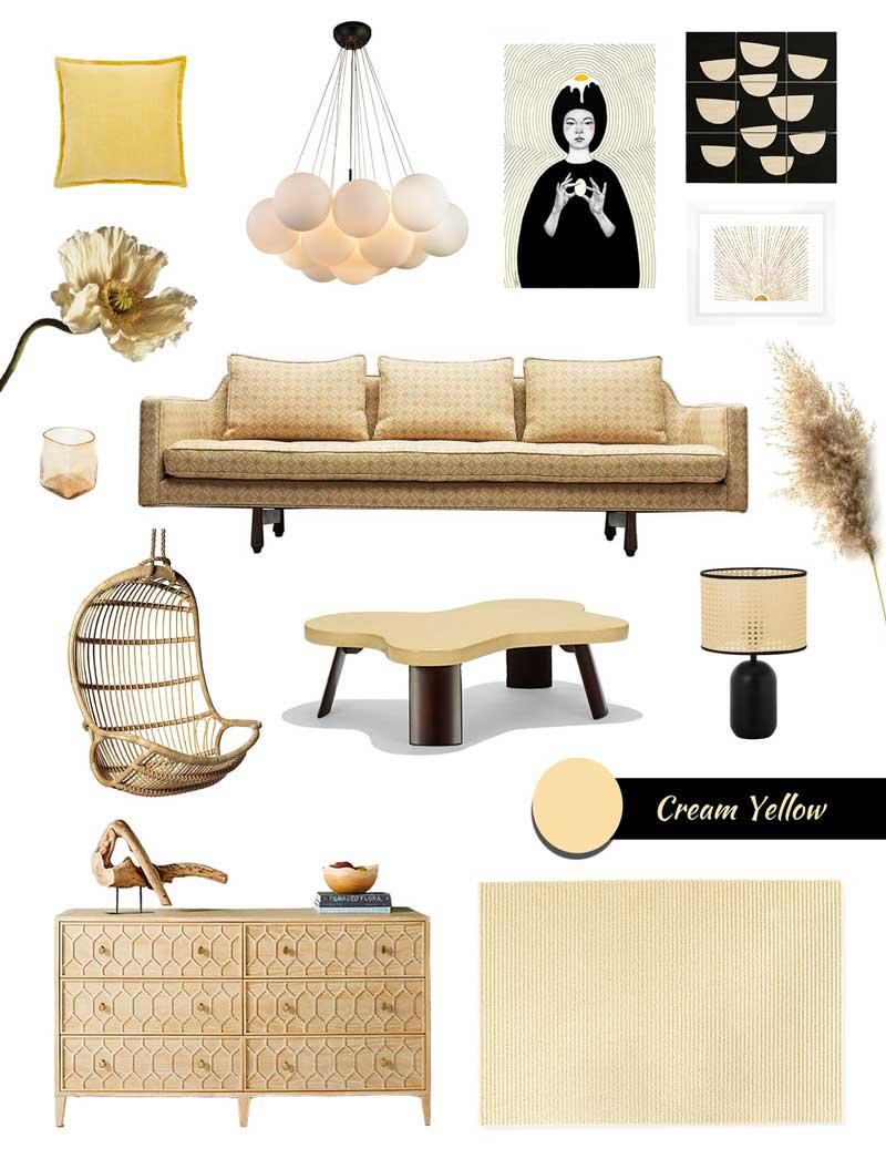 Creating A Relaxing Interior Design In Cream Yellow In Corona Virus Times