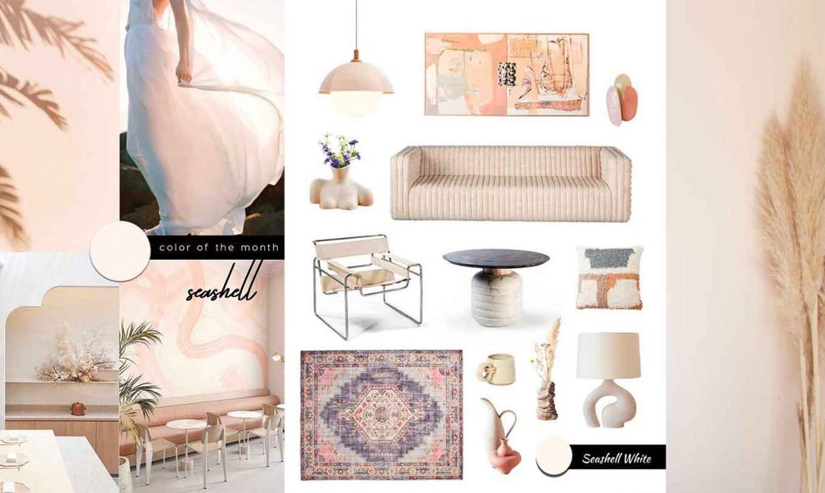 SHOP IT | Super stylish Neutral Furniture and Decor with seashell white