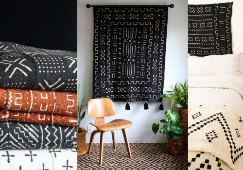 DECOR TRENDS | How to Decorate with mud cloths, African trendy textiles