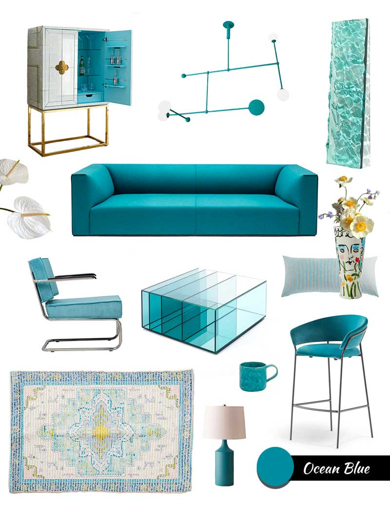 Modern Home Decor Ideas in the Ocean Blue Color Trend 2021