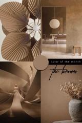 brown color trend 2021 interiors design