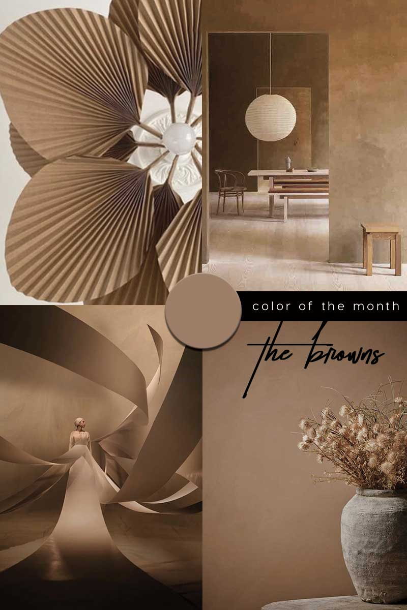 brown color trend 2021 interiors design