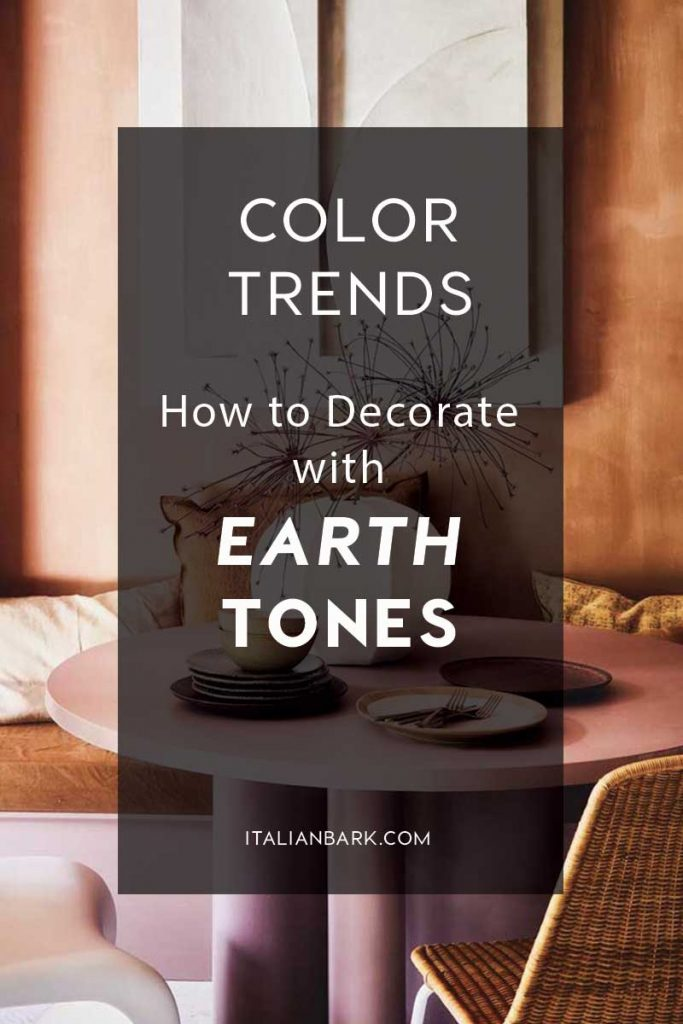 How to Decorate with Earth Tones | Brown Color Trend Interiors