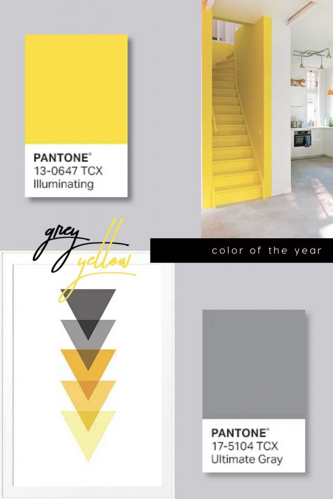 Pantone color trend of the year 2021 is grey and yellow, enjoy here our selection of grey and yellow interiors and design
