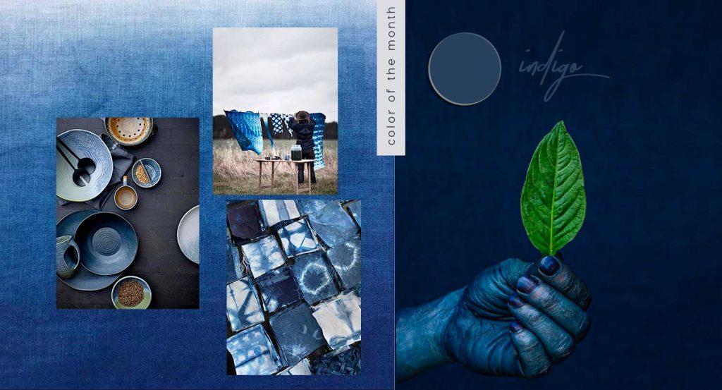 color trends 2021, indigo blue, Japanese blue interior design
