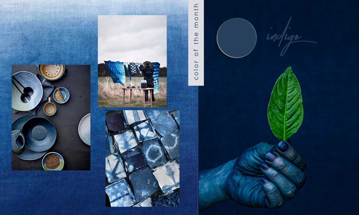 color trends 2021, indigo blue, Japanese blue interior design