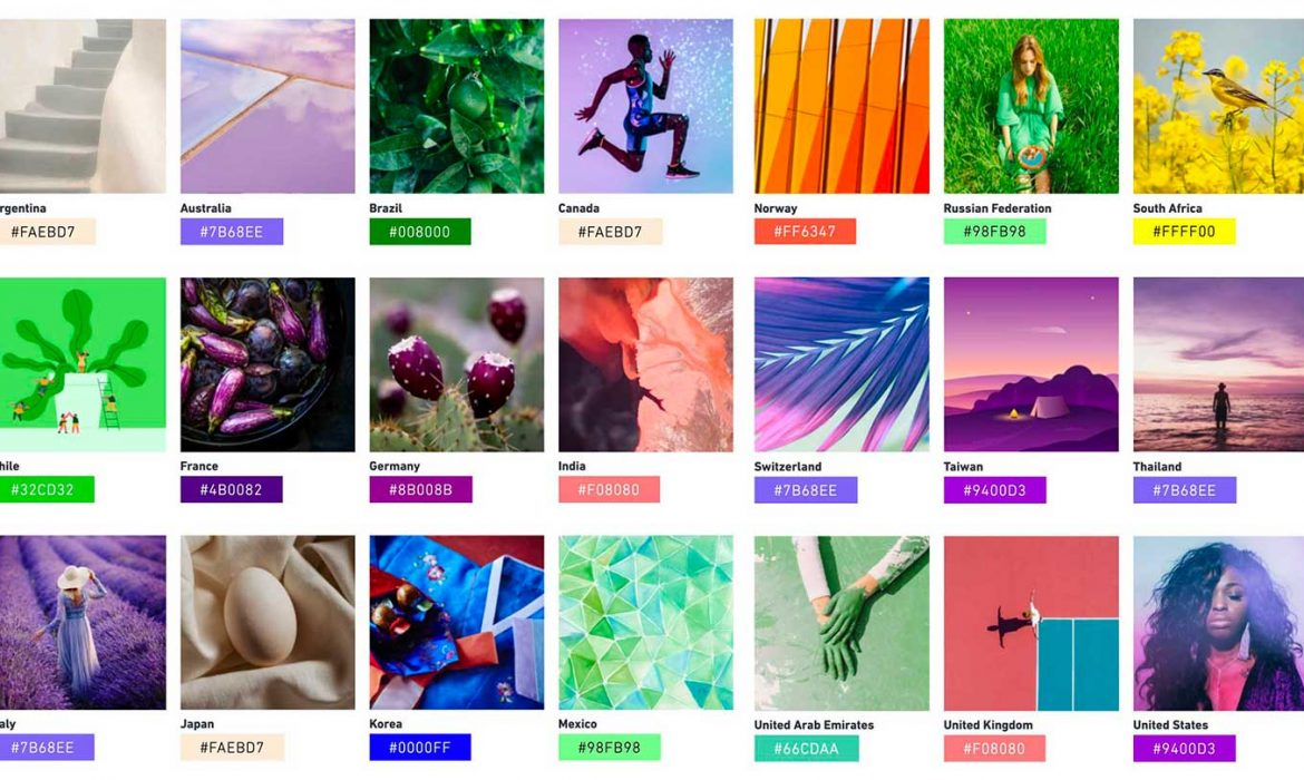 Global Color Trends 2021 according to different Countries